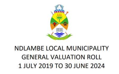 New municipal valuation roll