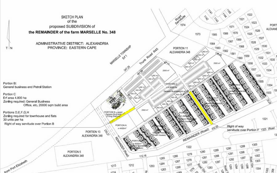 Proposed subdivision on Marcelle farm